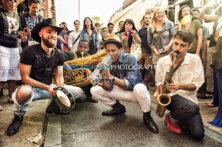 Jon Batiste And Stay Human on the streets of Williamsburg (Tue 6 9 15)-113