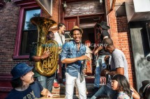 Jon Batiste And Stay Human on the streets of Williamsburg (Tue 6 9 15)-261-Edit