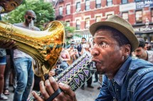 Jon Batiste And Stay Human on the streets of Williamsburg (Tue 6 9 15)-401-Edit