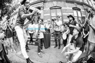 Jon Batiste And Stay Human on the streets of Williamsburg (Tue 6 9 15)-473-Edit