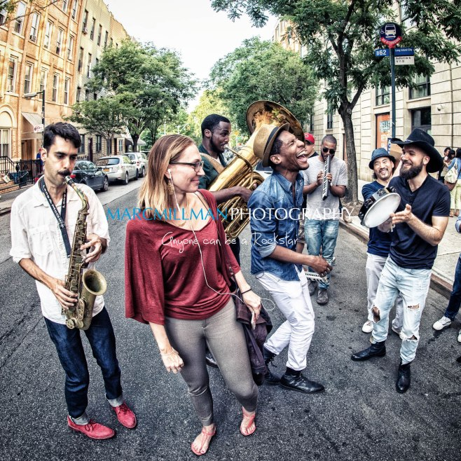 Jon Batiste And Stay Human on the streets of Williamsburg (Tue 6 9 15)-510-Edit