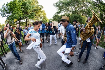 Jon Batiste And Stay Human on the streets of Williamsburg (Tue 6 9 15)-585-Edit